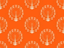 Seamless pattern with a ferris wheel. Vector. Illustration Royalty Free Stock Image
