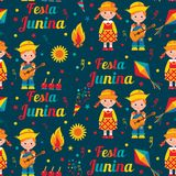 Festa Junina Brazilian summer holiday stock illustration