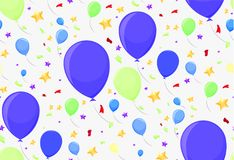 Seamless pattern with festive balloons. For paper or decoration Stock Images