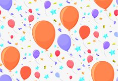 Seamless pattern with festive balloons. For paper or decoration Stock Image