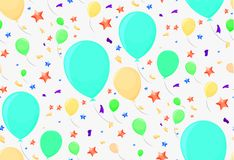 Seamless pattern with festive balloons. For paper or decoration Royalty Free Stock Photography