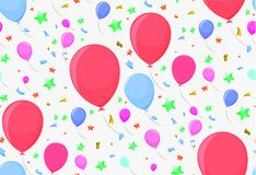 Seamless pattern with festive balloons. For paper or decoration Royalty Free Stock Photo