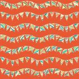 Seamless pattern of festive garlands. Stock Photos