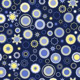 Seamless pattern of festive stars Royalty Free Stock Photos
