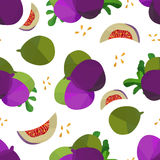 Seamless pattern figs and leaves Royalty Free Stock Photo