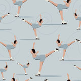 Seamless pattern figure skating Royalty Free Stock Photos
