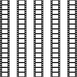 Seamless pattern of film strip. Vector background Royalty Free Stock Image