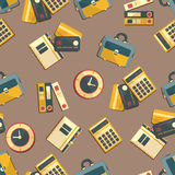 Seamless pattern with finance, accounting and auditing icons. Royalty Free Stock Photography