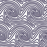 Seamless Pattern in Fingerprint Style Royalty Free Stock Image