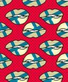 Seamless pattern Finland Stock Image