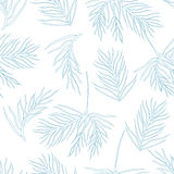 Seamless pattern with fir branches.Christmas and New Year background. Vector illustration Stock Photo