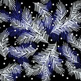 Seamless pattern with fir branches.Christmas and New Year background. Vector illustration. Seamless pattern with fir branches.Christmas and New Year background vector illustration