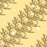Seamless pattern with fir branches Stock Photography