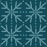 Seamless pattern with fir branches. Royalty Free Stock Image