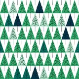 Seamless pattern with fir trees  on background. Soft seamless winter background with fir trees Stock Photo