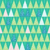 Seamless pattern with fir trees  on background. Soft seamless winter background with fir trees Royalty Free Stock Photos