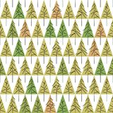 Seamless pattern with fir trees  on background. Soft seamless winter background with fir trees Stock Images