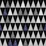 Seamless pattern with fir trees  on background. Soft seamless winter background with fir trees Royalty Free Stock Image