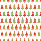 Seamless pattern with fir trees Royalty Free Stock Photography