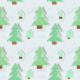 Seamless pattern with fir trees Stock Images