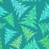 Seamless pattern of fir trees Stock Photography