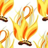 Seamless pattern Fire a bonfire elements astrological. Vector. Seamless pattern Fire a bonfire elements astrological  Vector illustration Royalty Free Stock Photo