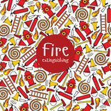 Seamless pattern fire Royalty Free Stock Images