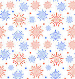 Seamless Pattern firework for Independence Day of USA, Wallpaper Royalty Free Stock Image