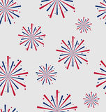 Seamless Pattern firework for Independence Day of USA, Wallpaper Royalty Free Stock Photos