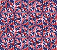 Seamless pattern - fireworks on Independence Day. Royalty Free Stock Photos
