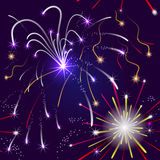 Seamless pattern with fireworks Royalty Free Stock Photos