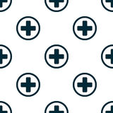 Seamless pattern of the first aid  on white background Flat design Vector. Illustration Royalty Free Stock Photography