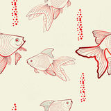 Seamless pattern with fish. Universal template for greeting card, web page, background Royalty Free Stock Photo