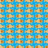Seamless pattern with fish Stock Image