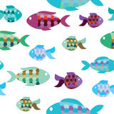 Seamless pattern of fish. Vector illustration  seamless pattern of fish Stock Photography