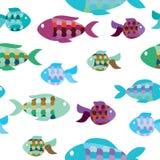 Seamless pattern of fish Stock Photography