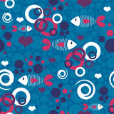 Seamless pattern with fish Royalty Free Stock Image
