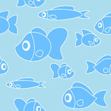 Seamless pattern with fish in cartoon style. Vector. Illustration Stock Image