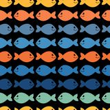 Seamless pattern with fish Royalty Free Stock Photography