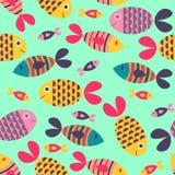 Seamless pattern with fish Stock Photo
