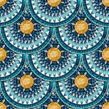 Seamless pattern in fish scale design. Stock Photos