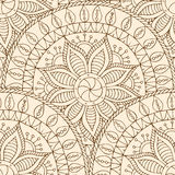 Seamless pattern in fish scale design. Seamless doodle geometric pattern in fish scale design. Circle elements texture. Vector art Royalty Free Stock Photography