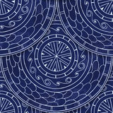 Seamless pattern in fish scale design. Stock Images