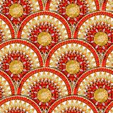 Seamless pattern in fish scale design. Royalty Free Stock Images