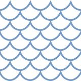 Seamless pattern fish scale vector illustration. Seamless pattern fish scale texture cartoon style vector illustration Stock Image