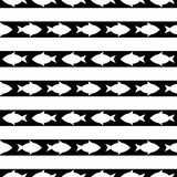 Seamless pattern with fish. vector. Black and white seamless pattern with fish. vector Royalty Free Stock Photos