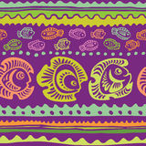 Seamless pattern with fish. Vector illustration Stock Photography