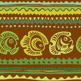 Seamless pattern with fish. Vector illustration Stock Image