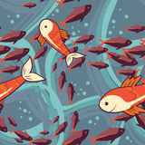Seamless pattern with fishes. Vector illustration vector illustration