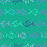 Seamless pattern with fishes Royalty Free Stock Photography